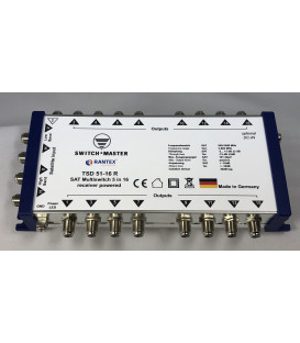 Switch Master1 Sat - 16 Teilnehmer Multischalter 5/16 HDTV Made in Germany